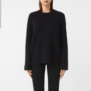 All Saints Jago Crew Neck Sweater in Navy